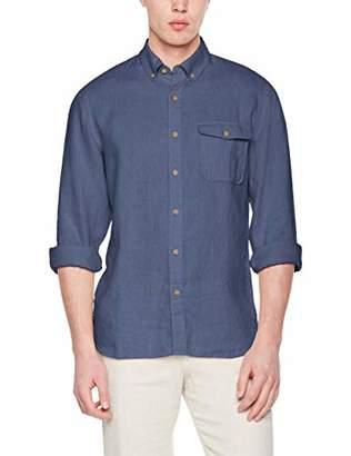 Isle Bay Linens Men's Standard-Fit 100% Linen Long-Sleeve Button-Down Woven Casual Shirt