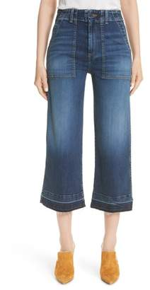Veronica Beard Lou Released Hem Gaucho Jeans