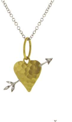 Cathy Waterman Diamond Arrow Heart Charm