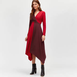 Warehouse Ruby Colour Block Midi Dress