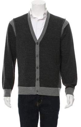 Michael Kors Woven Button-Up Cardigan
