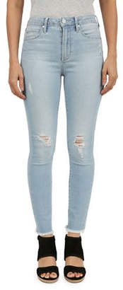 Articles of Society High-Rise Ripped Skinny Crop Jeans