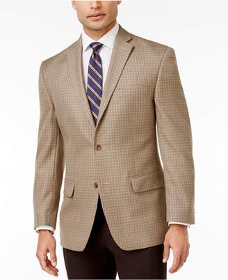 MICHAEL Michael Kors Men's Classic-Fit Tan Houndstooth Sport Coat $295 thestylecure.com