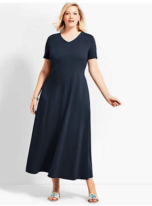 Talbots Plus Size Exclusive Casual Jersey Maxi Dress