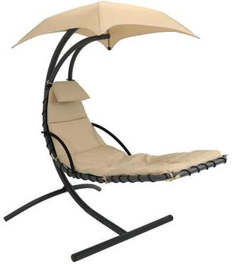 Shania Freeport Park Floating Chaise Lounge Swing Chair with Cushion Freeport Park
