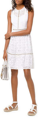 MICHAEL Michael Kors Mini Mod Floral Lace Sleeveless Dress