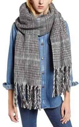 AllSaints Plaid Brushed Wool Blanket Scarf
