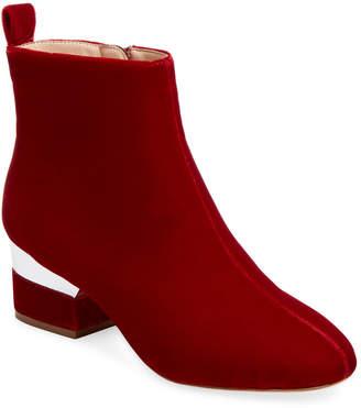 Isa Tapia Hardy Velvet Ankle Boot