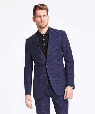 Todd Snyder Black Label Sutton Suit Jacket in Navy/Black Seersucker