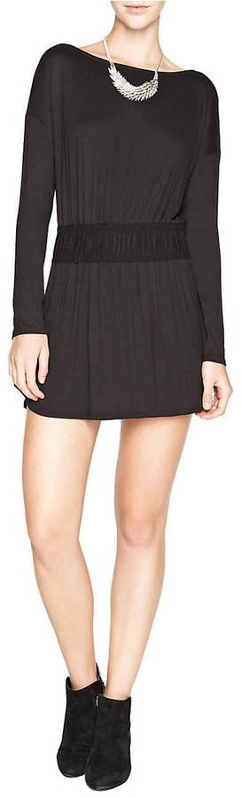 BCBGMAXAZRIA BCBGENERATION Drape Back Long-Sleeve Dress
