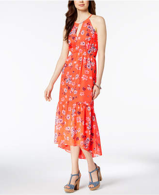 Vince Camuto Floral-Print Chiffon High-Low Maxi Dress