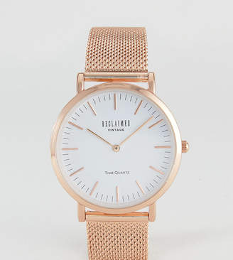 Reclaimed Vintage Inspired Mesh Watch In Rose Gold 36mm Exclusive to ASOS