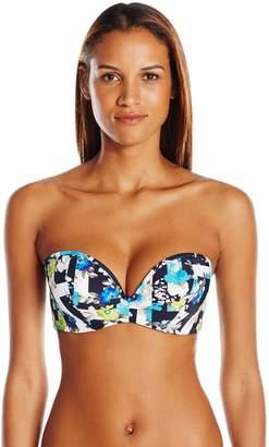 Cleo by Panache Women's Suki Bra-Sized Molded Strapless Plunge Bandeau Bikini Top