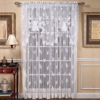 Saturday Knight Butterfly Lace Rod-Pocket Curtain Panel