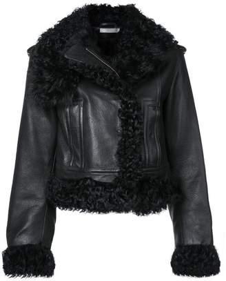 Vince shearling lined biker jacket