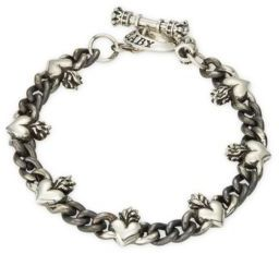 Sterling Silver Textured Bracelet $580 thestylecure.com