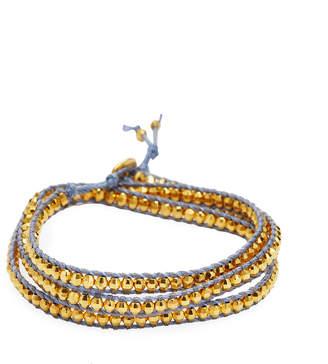 Chan Luu 18K-Plated & Silver Beaded Cord Bracelet
