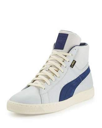 Puma Men's Basket Mid GTX® High-Top Sneaker, Gray $150 thestylecure.com