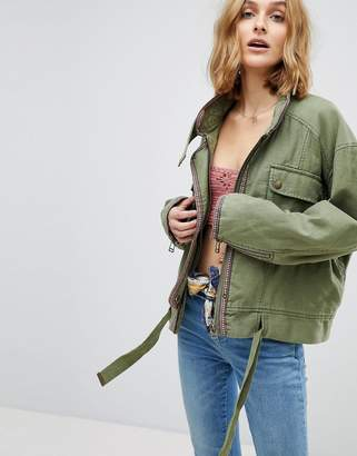 Free People Flight Line Military Jacket