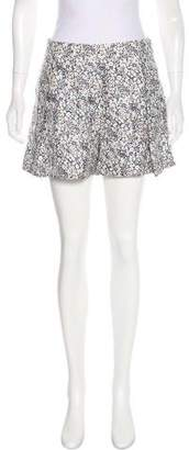 Derek Lam Silk Floral Print Shorts