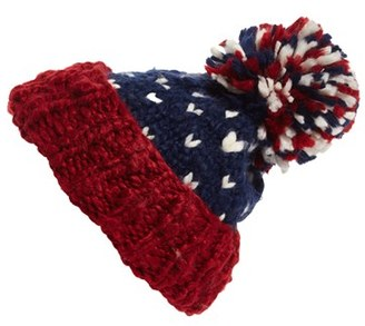 Women's Collection Xiix 'Americana' Knit Beanie - Blue $28 thestylecure.com