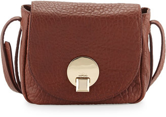 Kooba Claude Small Saddle Bag, Brown Metallic $145 thestylecure.com