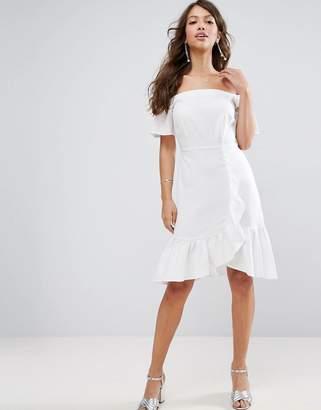ASOS Off Shoulder Ruffle Mini Dress $58 thestylecure.com