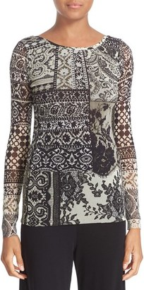 Women's Fuzzi Mosaic Print Tulle Top $320 thestylecure.com