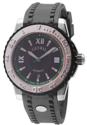 Gevril Men's Automatic-Self-Wind Seacloud Black Rubber Strap Watch