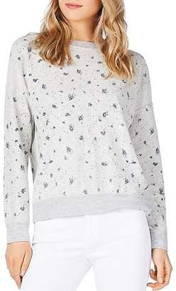 Michael Stars Reversible Floral Print Sweatshirt