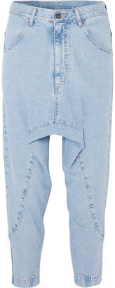 Bassike Super Lo Slung Cropped Jeans - Mid denim