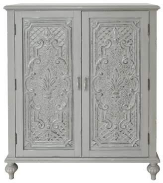 HomeFare Ornate Front Grey Door Chest