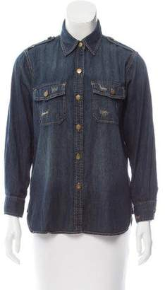 Current/Elliott Butotn-Up Denim Top