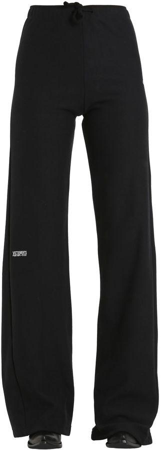 Champion Flared Cotton Jersey Sweatpants