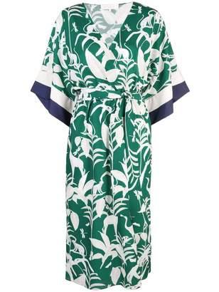 Borgo de Nor Raqual V Neck Floral Midi Dress