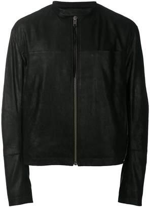 Haider Ackermann zipped leather jacket