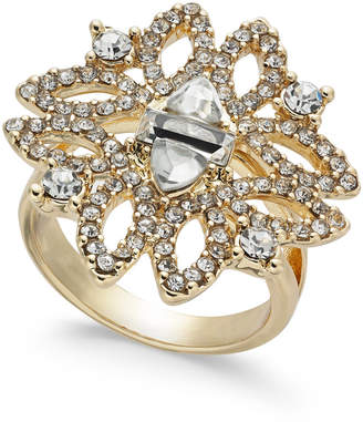INC International Concepts I.n.c. Gold-Tone Crystal Statement Ring