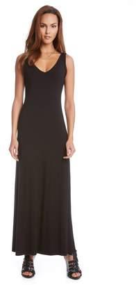 Karen Kane 'Alana' Double V-Neck Maxi Dress
