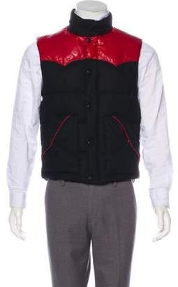 Ralph Lauren Black Label Leather-Trimmed Down Vest