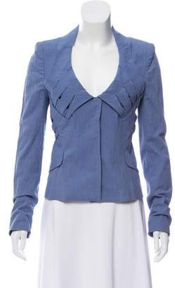 Zac Posen Cropped Long Sleeve Jacket