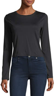J Brand Carolina Long-Sleeve Cropped Cotton Tee