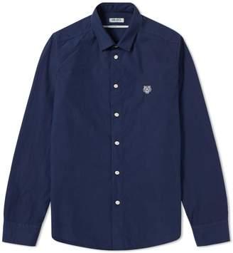 Kenzo Button Down Dyed Tiger Poplin Shirt