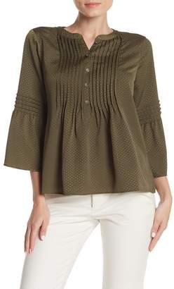 Cynthia Steffe CeCe by Tonal Dotted Bell Sleeve Blouse