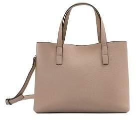 MANGO Pebbled tote bag