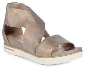 Eileen Fisher Sport Leather Platform Sandals