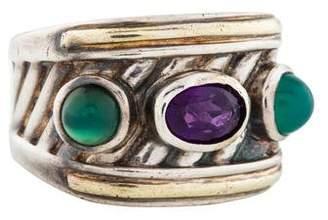 David Yurman Amethyst & Chalcedony Renaissance Ring