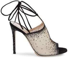 Gianvito Rossi Sequin Ankle Strap Sandals