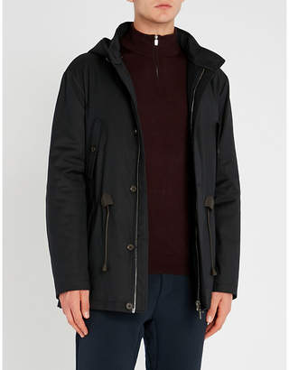 Corneliani Hooded wool-lined shell parka