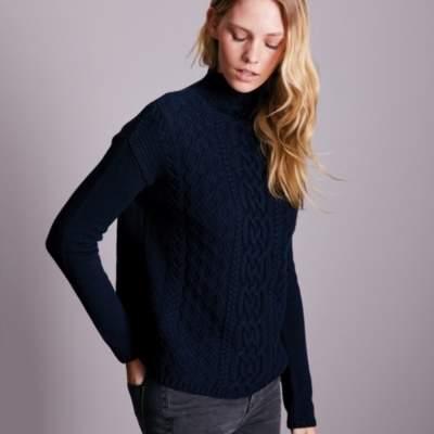 Wool-Cashmere Aran Knit Jumper