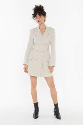 Nasty Gal Womens Hella Good Mini Blazer Dress - Beige - M